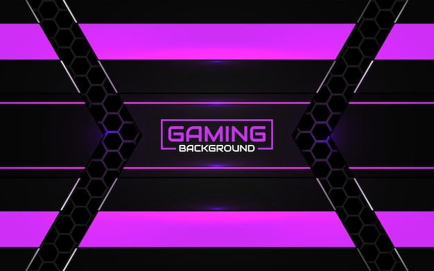 Fundo futurista abstrato do jogo em preto e roxo