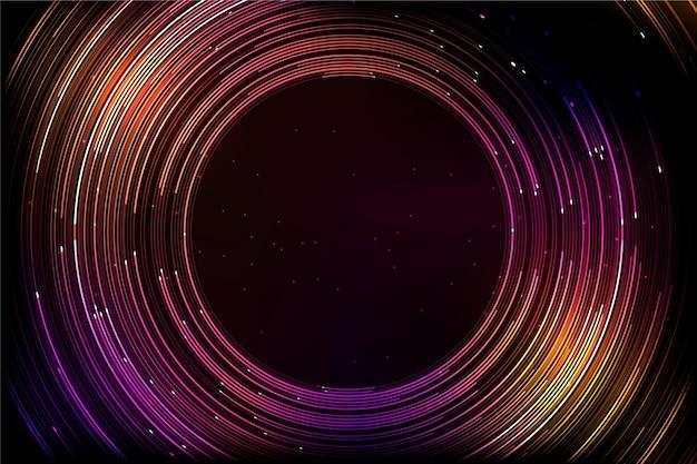 Fundo futurista colorido com linhas redondas