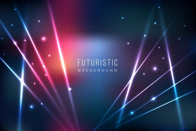 Fundo futurista com efeito de luzes