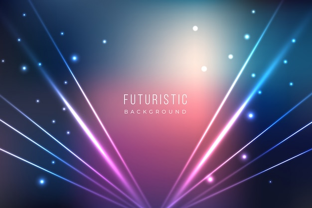 Fundo futurista com efeitos de luz