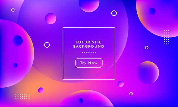 Fundo futurista com formas de círculo