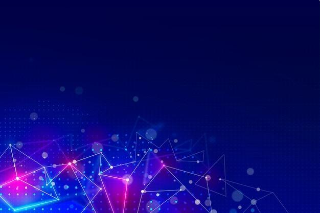 Fundo futurista com linhas de conexão