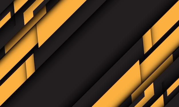 Fundo futurista da tecnologia do projeto futurista preto geométrico cinzento amarelo abstrato.