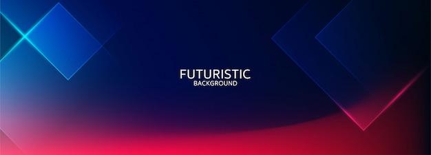 Fundo futurista de forma geométrica abstrata azul