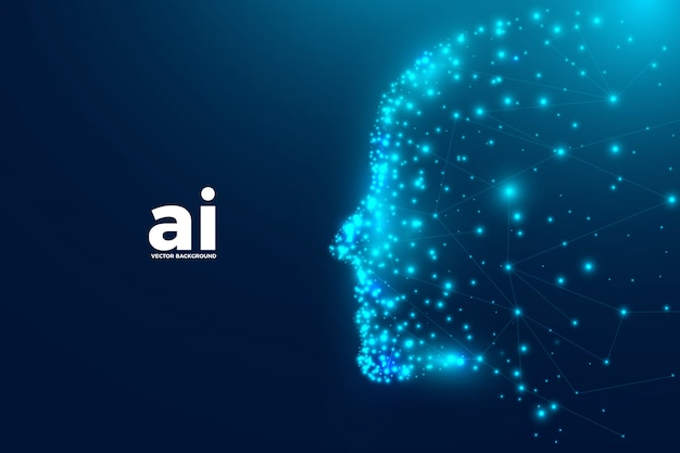 Fundo futurista de inteligência artificial