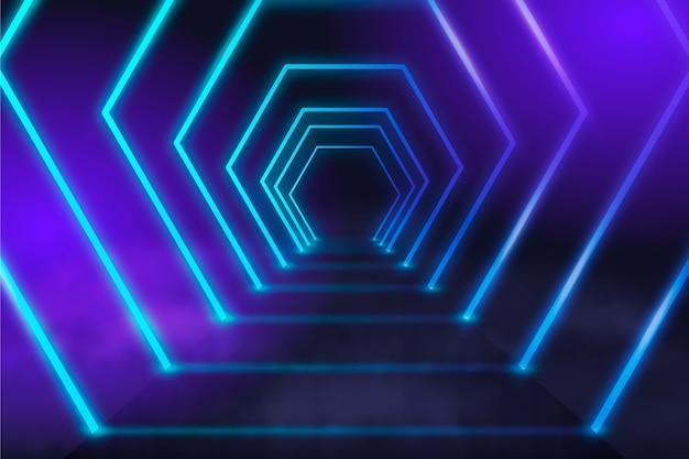 Fundo futurista de luzes de néon