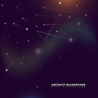 Fundo futurista de partículas abstratas