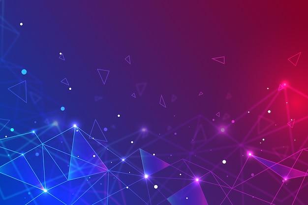 Fundo futurista de pontos ondulados
