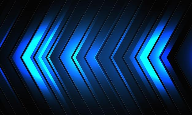 Fundo futurista de seta azul com fundo digital criativo