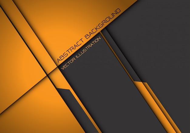 Fundo futurista de sobreposição metálico cinza amarelo abstrato