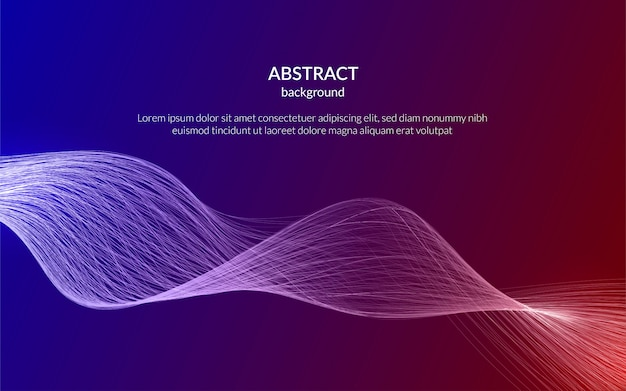 Fundo futurista de tecnologia abstrata