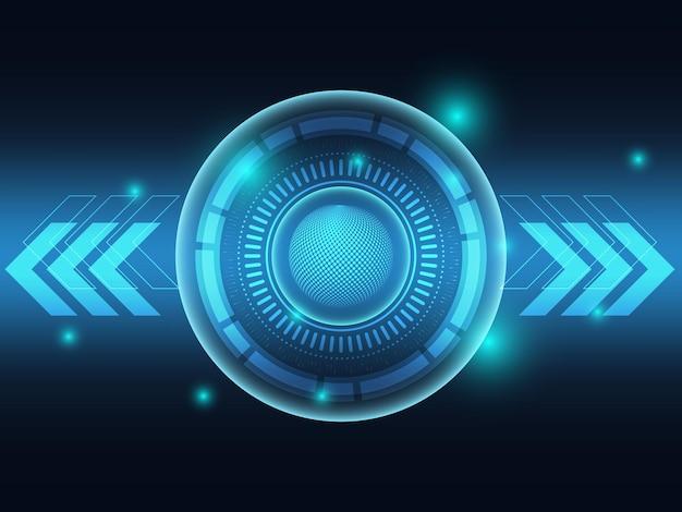 Fundo futurista de tecnologia azul