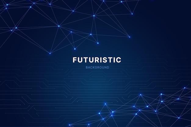 Fundo futurista de tecnologia gradiente