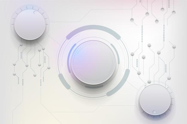 Fundo futurista de tecnologia