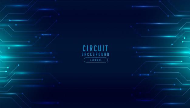 Fundo futurista digital de diagrama de circuito de tecnologia