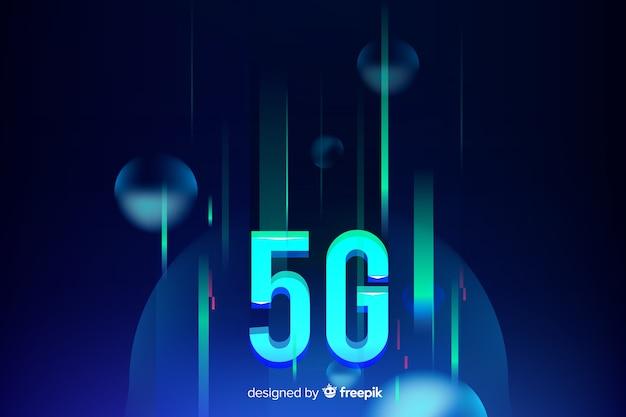 Fundo futurista do conceito 5g