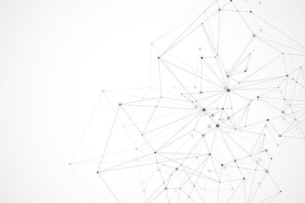 Fundo futurista do vetor abstrato tecnologia blockchain ponto a ponto conceito de negócio de rede ...