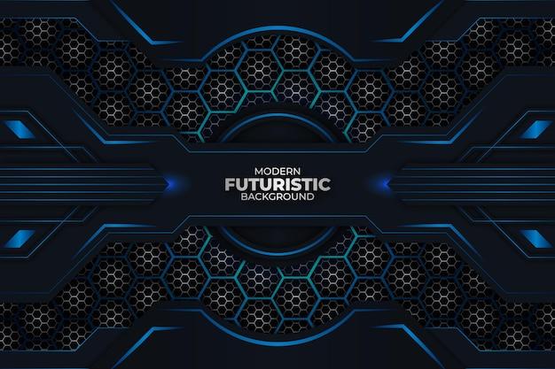 Fundo futurista escuro e azul