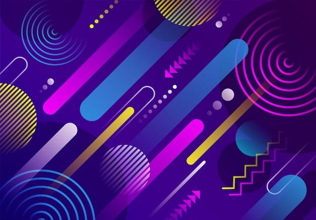 Fundo futurista geométrico colorido abstrato