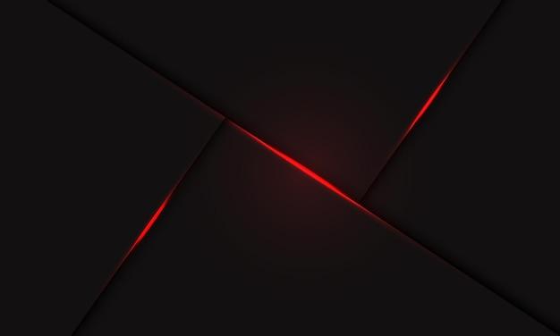 Fundo futurista moderno abstrato da linha de luz vermelha.