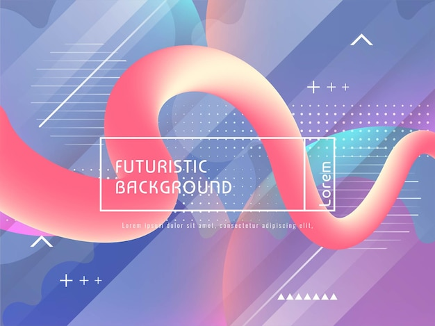 Fundo futurista moderno abstrato