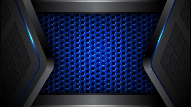 Fundo futurista moderno preto azul abstrato