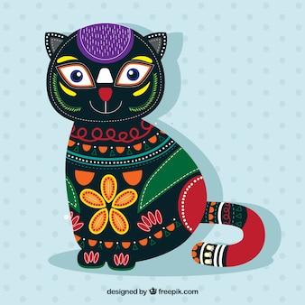 Fundo gato bonito étnica