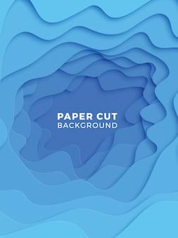 Fundo geométrico 3d com camadas de corte de papel realista.