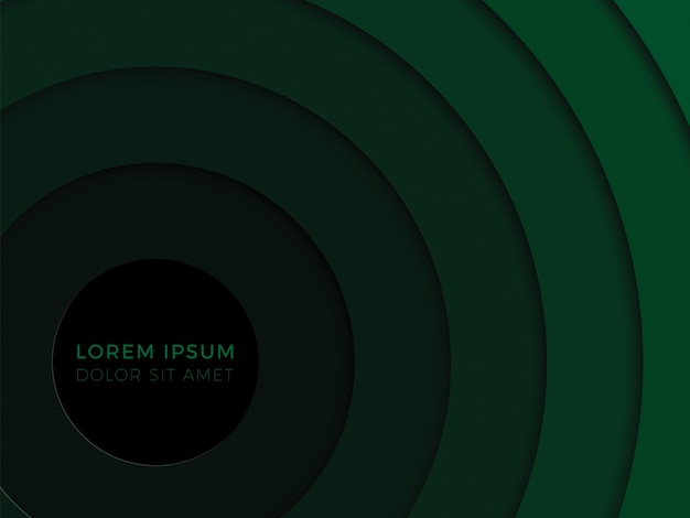 Fundo geométrico 3d com camadas verdes de corte de papel realista. layout de design