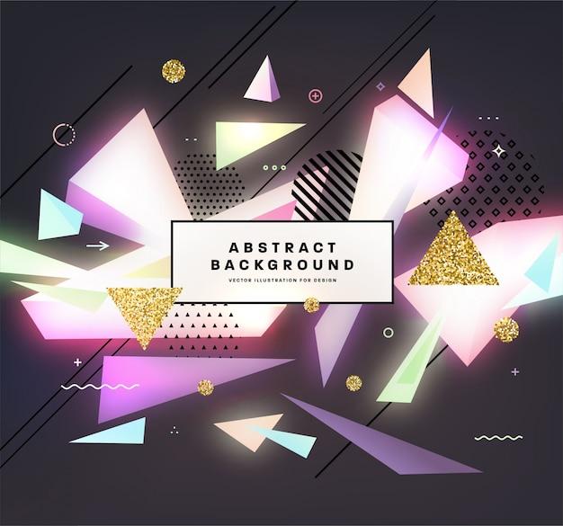 Fundo geométrico abstrac