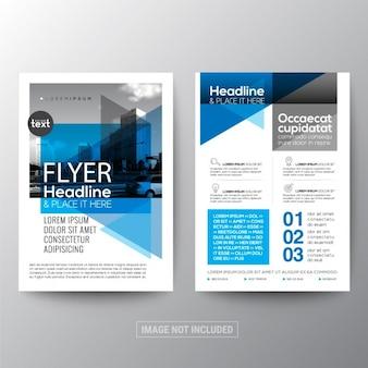 Fundo geométrico abstrato azul para poster folheto modelo de layout de design