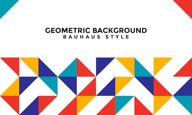 Fundo geométrico abstrato bauhaus fundo geométrico estilo bauhaus