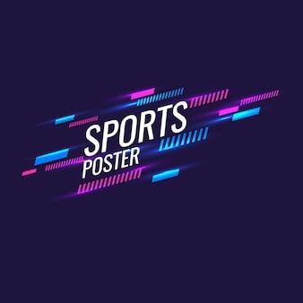Fundo geométrico abstrato. cartaz de esportes com figuras geométricas. ilustração vetorial.