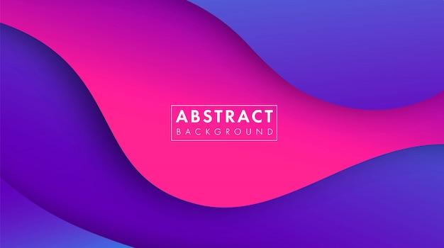 Fundo geométrico abstrato colorido inclinação da tendência. composição de formas fluidas