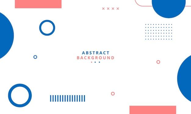 Fundo geométrico abstrato com estilo memphis