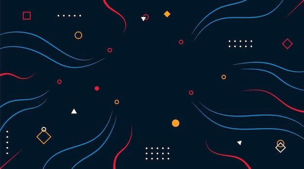 Fundo geométrico abstrato com linha de ondas