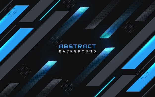 Fundo geométrico abstrato com linha listrada preta e azul