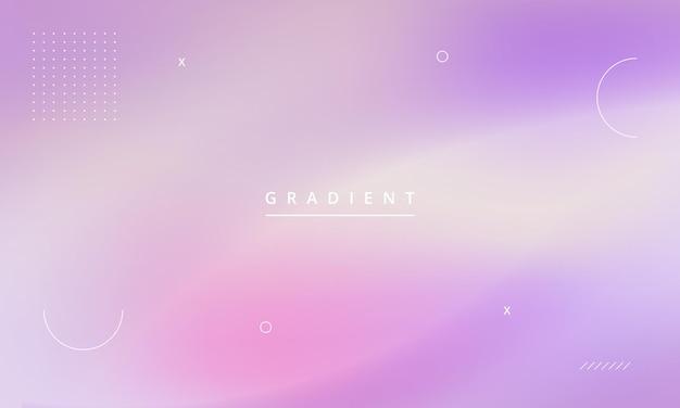 Fundo geométrico abstrato com memphis e estilo gradiente