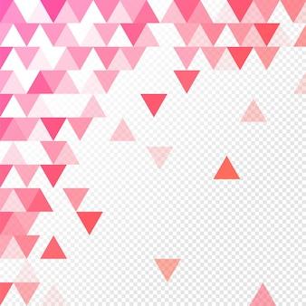 Fundo geométrico abstrato com múltiplos triângulos em fundo transparente.