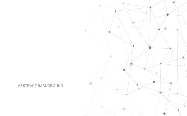 Fundo geométrico abstrato com pontos e linhas de conexão