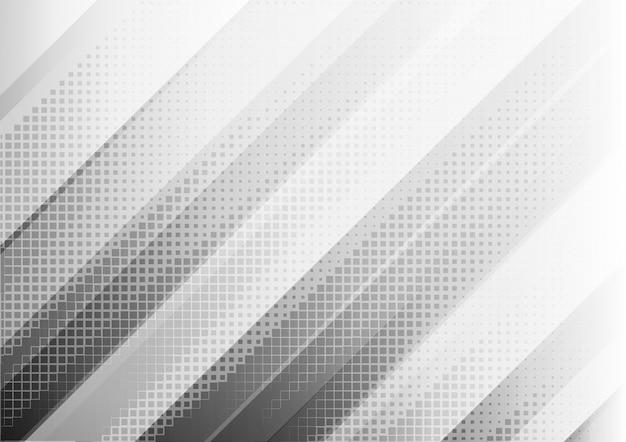 Fundo geométrico abstrato da cor branca e cinzenta.