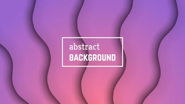 Fundo geométrico abstrato da onda mínima. forma de camada de onda rosa para banner, modelos, cartões. ilustração vetorial.
