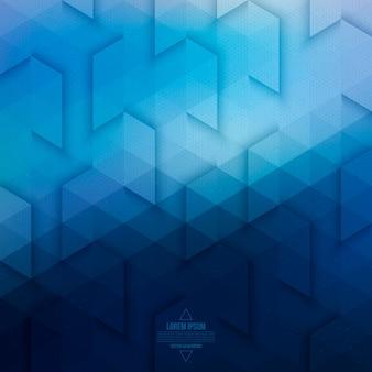 Fundo geométrico abstrato da tecnologia do vetor. vetor de fundo azul.