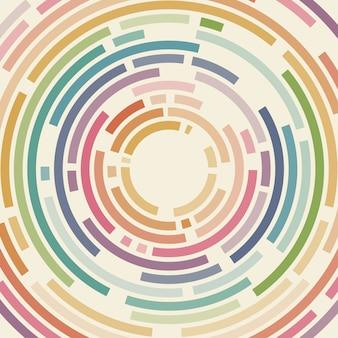 Fundo geométrico abstrato das linhas dos círculos do vetor.