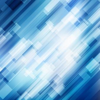 Fundo geométrico abstrato diagonal azul linhas