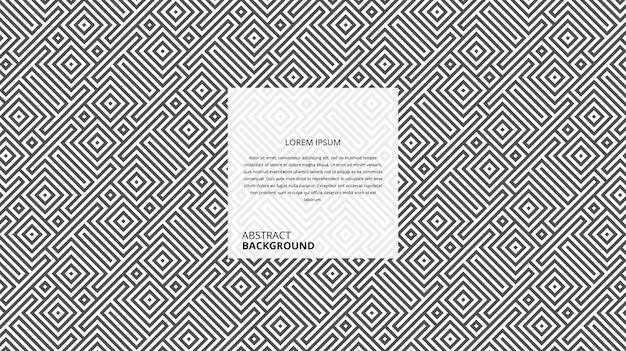 Fundo geométrico abstrato diagonal linhas quadradas