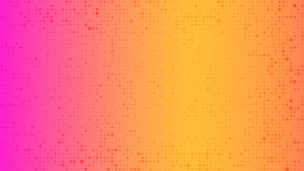 Fundo geométrico abstrato dos quadrados. fundo de pixel laranja com espaço vazio. ilustração vetorial.