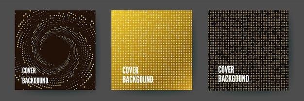 Fundo geométrico abstrato dourado cintilante sem costura com paillettes dourados e pretos brilhantes.