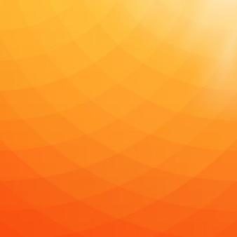 Fundo geométrico abstrato em tons alaranjados e amarelos