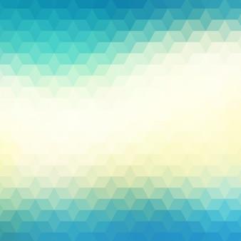 Fundo geométrico abstrato em tons azuis e verdes